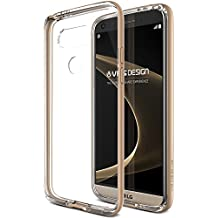 Coque LG G5, VRS Design [Crystal Bumper][Or] Anti Choc Silicone Protection Housse Etui Transparent Gel Pour LG G5