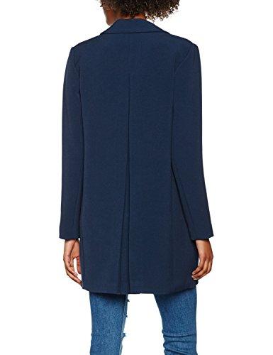 Vila Damen Mantel Visure Jacket Blau (Total Eclipse)