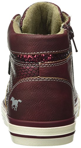 Mustang 5024-508, Sneakers Hautes Fille Rouge (55 bordeaux)