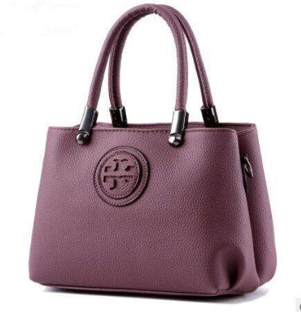 HQYSS Borse donna In pelle coreana PU Croce corpo donna tracolla Messenger Handbag , pink deep purple