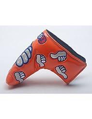 mamimamih pulgar diseño cabeza de Putter de Golf cubre color naranja para palos de golf para Scotty Cameron Taylormade ping Titleist Odyssey Blade