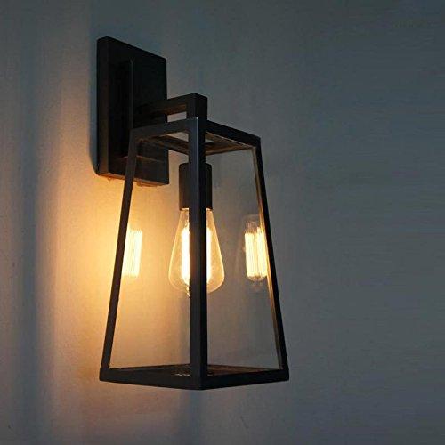 Faym - stile loft a ferro battuto industria del commercio estero creative promozionale scatola di vetro bar caffetterie alberghi golden triangle lampada da parete