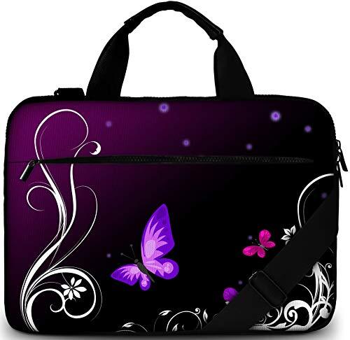 he 17/17,3 Zoll - Moderne Notebooktasche aus Canvas - Hochwertige Laptop Tasche - Schmutz- & Wasserabweisende Laptop Bag mit Zubehörfach ()