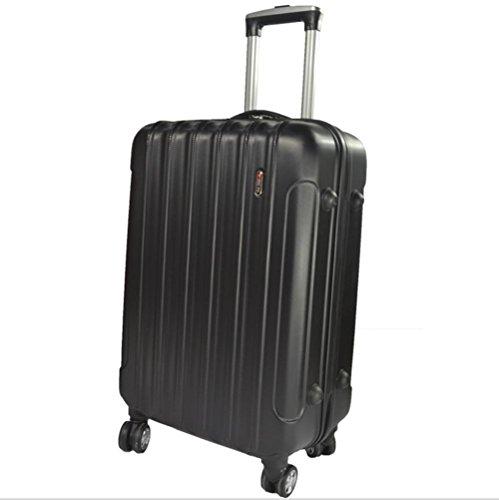 Xiuxiandianju 20 pollici 24 pollici commercio estero valigia uomini ABS macchia password imbarco casella caster Valigia Trolley da viaggio (56-75L) Black