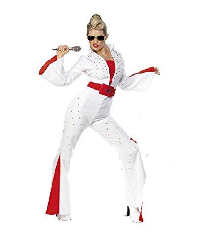 Costume Carnevale Donna Elvis Presley Jumpsuit -M