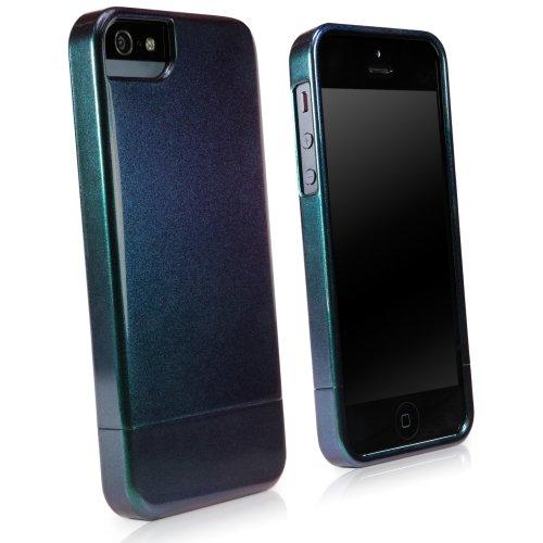 BoxWave Aurora Slider Iphone 5S/5Case–stilvoll Hard Shell Case mit dunklem Metallic-schimmernden Glanz für iPhone 5S/5–Apple Iphone 5S/5Schutzhüllen und Fällen (Indigo/Pflaume) (Schimmernde Pflaume)