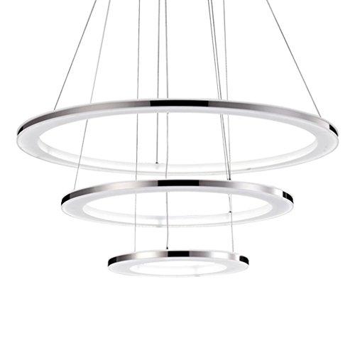 LED Pendelleuchte Modern Luxus 3 Ringe Hängeleuchte Kreativ Persönlichkeit  Acryl Höhenverstellbar Leuchter Wohnzimmer Esszimmer Schlafzimmer  Hängelampe 82W ...