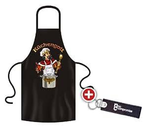 No-Compromise ® Grillschürze Schürze Latzschürze Bistroschürze Küchenschürze Kochschürze Küchengott
