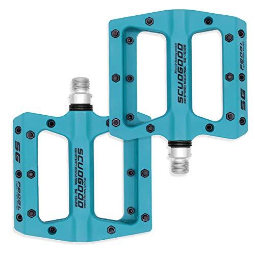 Fodlon Fahrradpedale, MTB Flat Pedale mit Gute Qualität Platform, Trekking Mountainbike Fahrrad Pedale für Durchmesser 9/16 Zoll