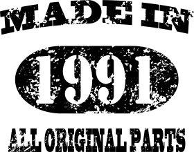 Mister Merchandise Tasche Made in 1991 All Original Parts 24 25 Stofftasche , Farbe: Schwarz Schwarz