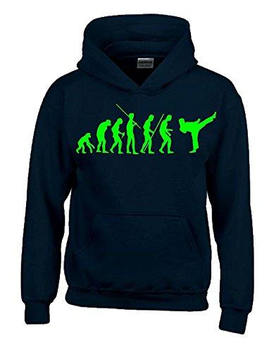 KARATE Evolution Kinder Sweatshirt mit Kapuze HOODIE schwarz-green, Gr.140cm