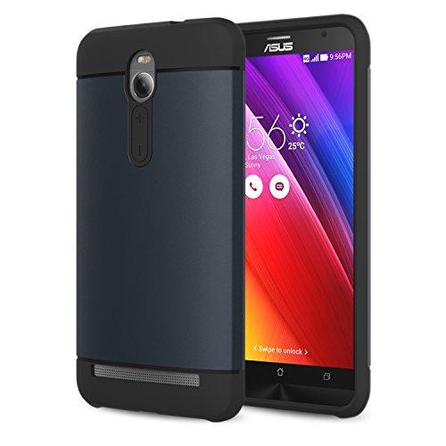 MoKo ASUS ZenFone 2 Hülle - [Ultra Slim Serie] Superleicht Flexible TPU Handy Schutzhülle Schale Bumper Phone Case für ASUS ZenFone 2 5.5 Zoll Android 2015 Release Smartphone, Marineblau