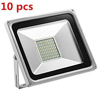 HimanJie 50W LED Kaltweiß Wandstrahler Lampe Außenstrahler Aluminium Strahler Flutlicht 220V IP65 (10) (Outdoor-flut-licht Led Par38)