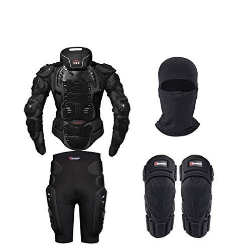 Gratydallks Motorrad Rüstung Schutz Ganzkörperschutz Moto Jacke Motorradjacke mit Nackenschutz one set L