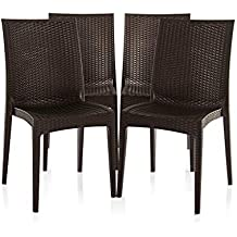 Varmora Designer Club Chair Set of 4 (Brown)