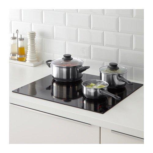 Ikea Annons - Batería de Cocina de inducción con Tapa de Cristal, 5 Piezas Acero Inoxidable