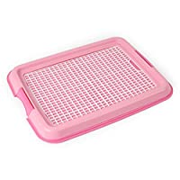 "Uheng Keep Paws Dry! Protect Floors Pets Dog Cat Litter Box Pan Tray Toilet Pad Holder, Litter Box Training for Rabbits Kitties Small Dog Puppies, 19""X14"""