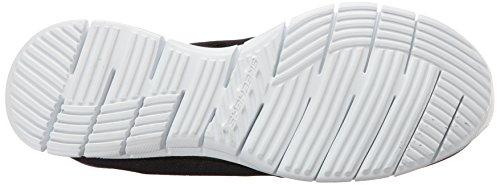 Skechers Glider Fearless, Sneakers basses femme Noir (Bkw)