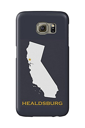 Healdsburg, California - Home State - White on Gray (Galaxy S6 Cell Phone Case, Slim Barely There) -