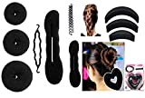 Homeoculture Combo Of 15 Hair Accessories for women and girls, Black color, 180
