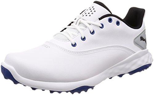 PUMA Grip Fusion Herren Golfschuhe White-Black-True Blue 9