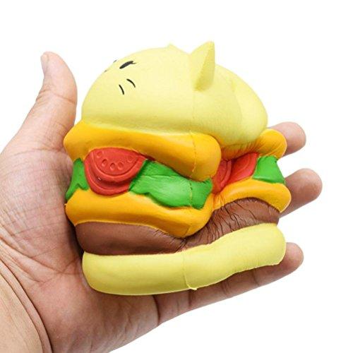 Beliebteste Geschenke Squishy Spielzeug, Sansee Weiche Jumbo Cartoon Katze Hamburger Squishy Squeeze Stress Reliever Spielzeug (#1110, (Hamburger Kostüme Kinder)