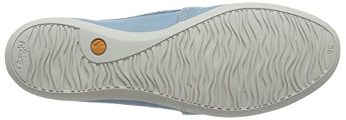 Softinos Olu382sof, Chaussures slip-on Femme Turquoise (Pastel Blue)