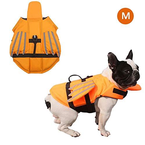 Desirabely Dog Schwimmweste Größe einstellbar Dog Lifesaver Sicherheit reflektierende Weste Pet Life Preserver für die Sicherheit des Wassers am Pool -