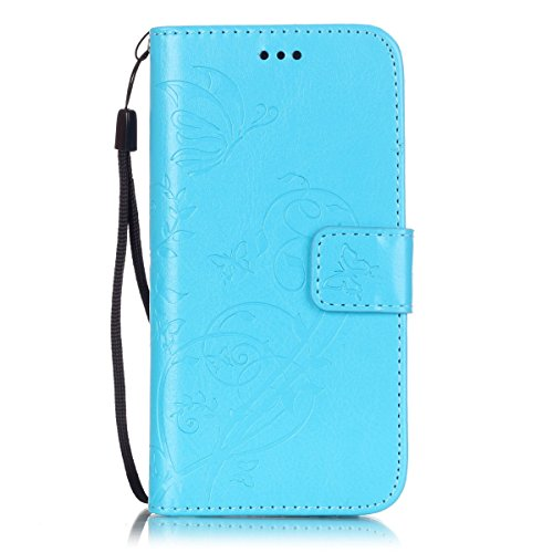 iPhone 6 Hülle, iPhone 6S Hülle, Lifeturt [ Rose ] PU leder Hülle Ledertasche Schutzhülle Case Tasche Standfunktion Brieftasche und Karte Halter für iPhone 6s / 6 E02-Blau