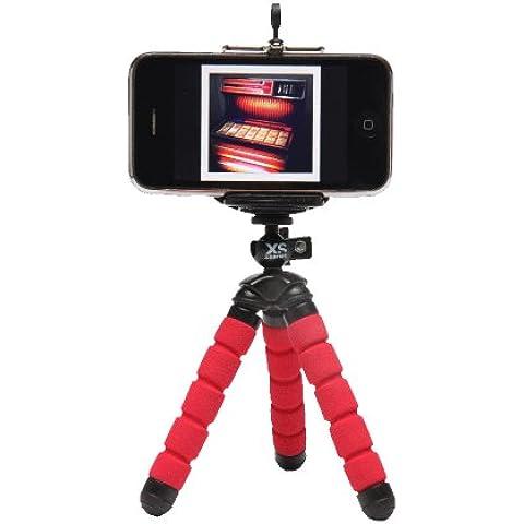 XSories Mini Deluxe - Trípode y soporte para móvil, color rojo