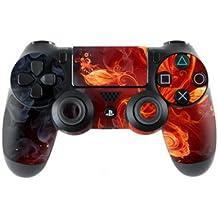 Sony Playstation 4- Funda protectora adhesiva para mando de PS4 (también PS4Slim & PS4Pro), Flower Of Fire