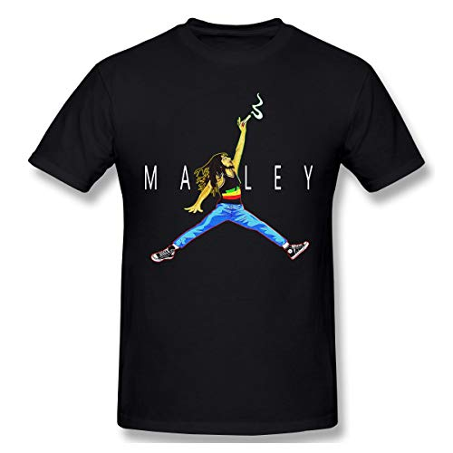 Cute Pink Piglet Air Marley Bob-Marley Herren Kurzarm T-Shirt Athletic Casual T-Shirts für Männer Komfortables T-Shirt -