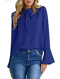 Amazon.fr   Noeud Papillon - Chemisiers et blouses   T-shirts, tops ... 416bd04dec5b