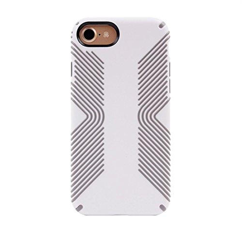 Wkae Unisex Anti-Kollision und Shockproof schützender rückseitiger Abdeckungs-Fall für iPhone 7 ( Color : White ) White