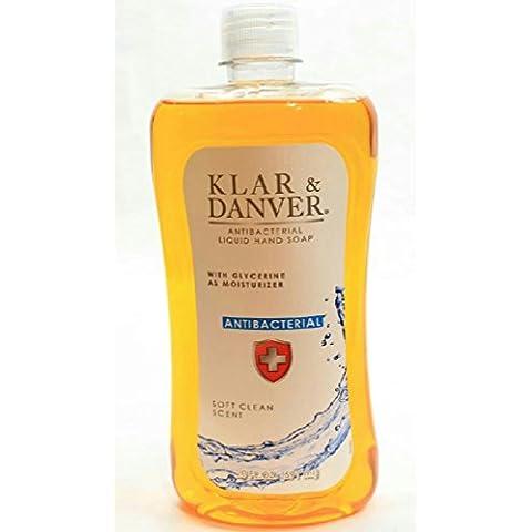 KLAR & DANVER Antibacterial Liquid Hand Soap, With Glycerine as