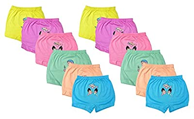 LUXCY Girls' Panties (Multi-Coloured, Pack of 12)