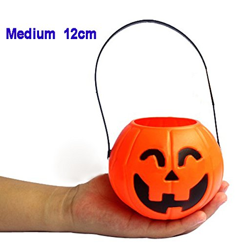 Kuerbis-Trick Treat Loot Sweet Candy Carry Halter krug Barrel Party - 12CM (Halloween-trick R Treat)