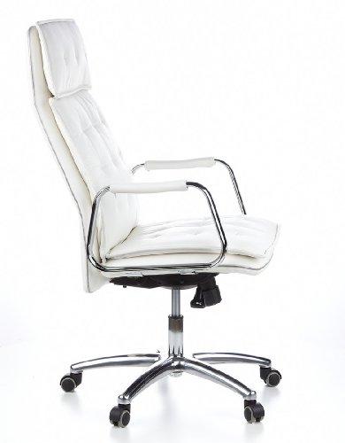 HJH OFFICE 600922 Bürostuhl / Chefsessel VILLA 20 Nappaleder elfenbein - 3