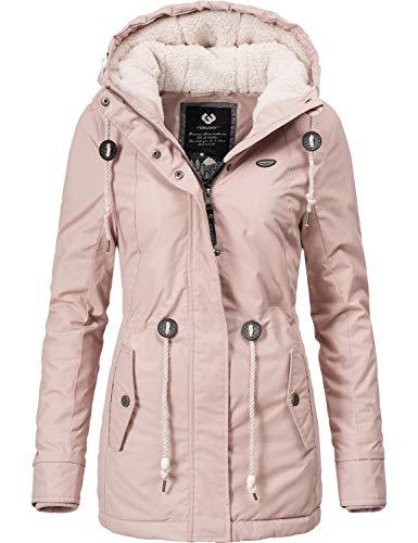 Ragwear Damen Winterparka Kurzmantel Monadis Black Label Rosa Gr. XL