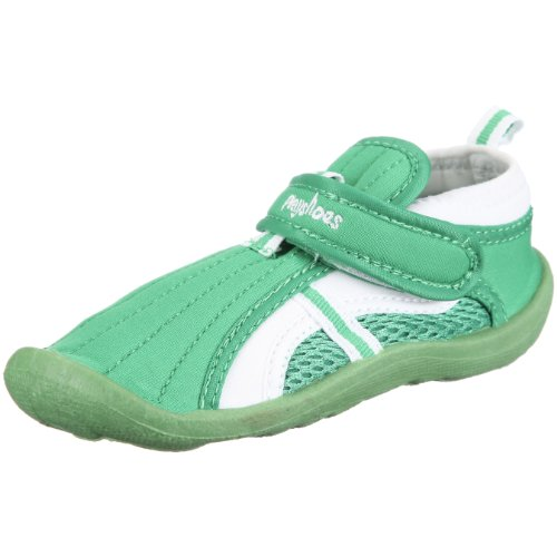 Playshoes Aqua-Schuh 174793, Unisex - Kinder Sandalen/Bade-Sandalen Grün