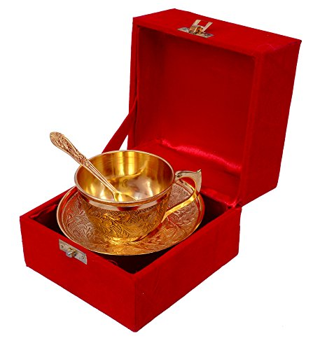 vie loom Gold Plated Cup Plate Set