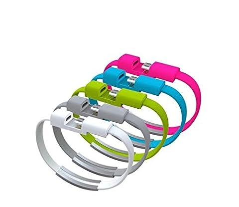 Jiahe Chargeur-bracelet micro USB pour Android vert