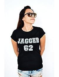 Mick Jagger 62 -football number t-shirt hip-hop