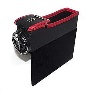 auto konsole seite tasche auto leder aufbewahrungsbox auto sitz filler gap catcher mit medaille. Black Bedroom Furniture Sets. Home Design Ideas