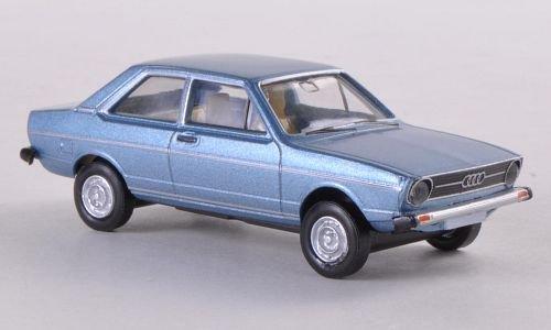 Audi 80, met.-hell-blau, Modellauto, Fertigmodell, Brekina Drummer 1:87