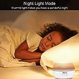 Projektor Lampe, AsperX Nachtlicht Kind Nachttischlampe Ozean Projektor & Sterne Nachtlicht 360° Grad Rotation mit 8 Farben Neuer Typ Sternenhimmel Projektor zum Schlafen Entspannen (White-A) - 4