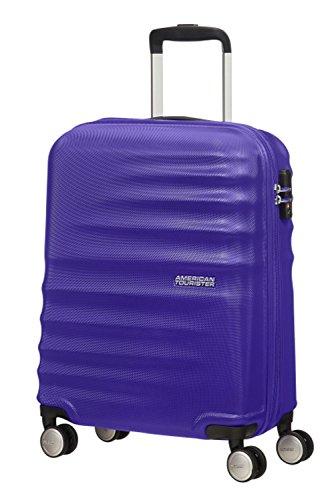 american-tourister-wavebreaker-55-20-bagage-cabine-blue-avec-le-sac-de-toilette