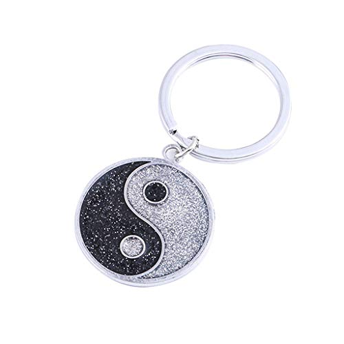 EUCoo Pet Schmuck Halskette Nette Mini Klatsch Tai Chi Carving Pet Id Label Pet Kragen AnhäNger SchlüSsel Schmuck(Schwarz) (Hund Name-tags Kragen)