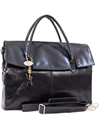 Catwalk Collection Handbags - Ladies Extra Large Leather Briefcase Shoulder Cross  Body Bag - Women s Organiser… c7972035416ae
