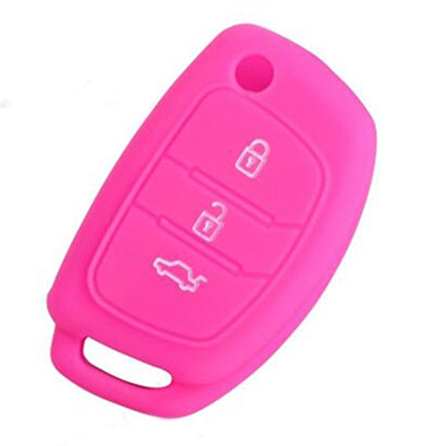 joyliveCY Auto Silikonschl¨¹sselabdeckung Fit f¨¹r Hyundai Solaris HB20 Veloster SR Ix35 Accent Elantra I30 Smart Remote Key Fall